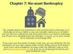 chapter 7 no asset bankruptcy