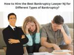 how to hire the best bankruptcy lawyer nj for different types of bankruptcy