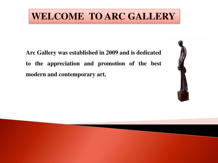 welcome to arc gallery n.