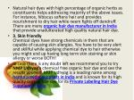 natural hair dyes with high percentage of organic