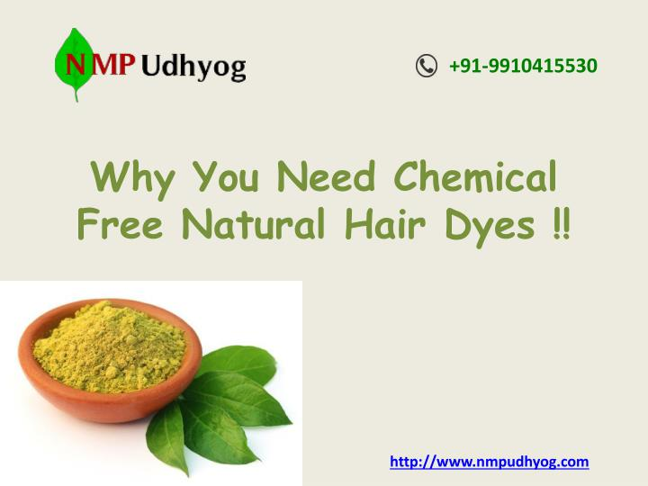 why you need chemical free natural hair dyes n.