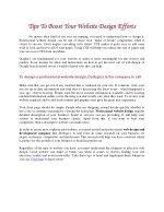 tips to boost your website design efforts tips