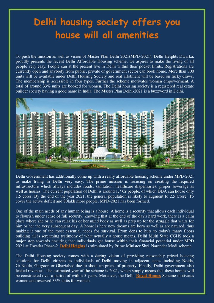 delhi housing society offers you house will n.