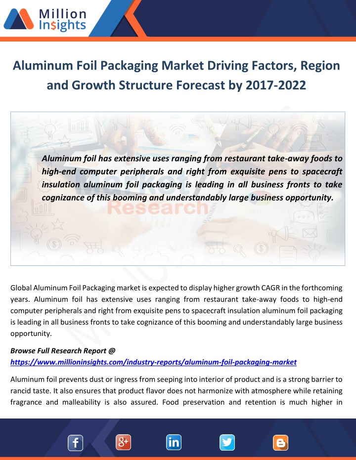 aluminum foil packaging market driving factors n.