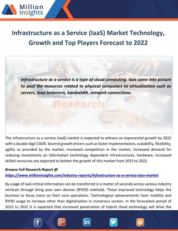 infrastructure as a service iaas market n.