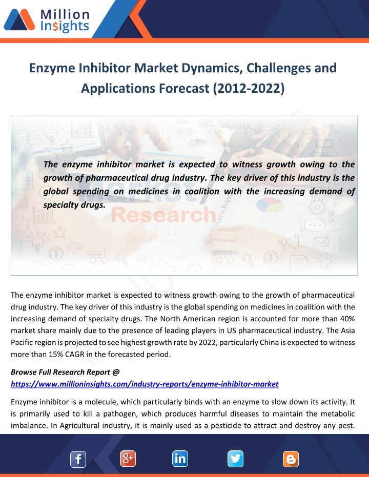enzyme inhibitor market dynamics challenges n.