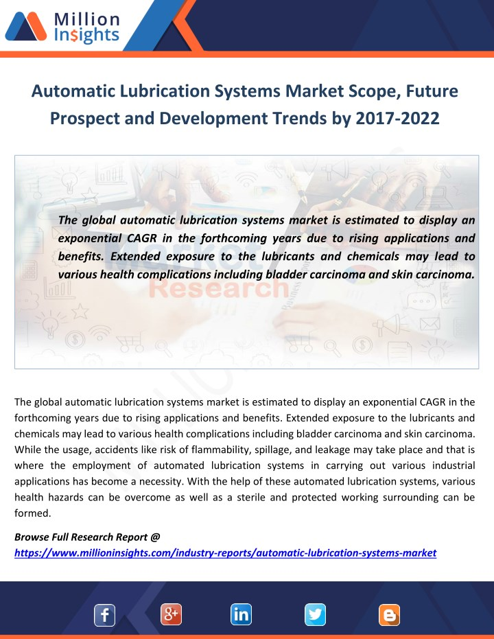 automatic lubrication systems market scope future n.