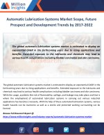 automatic lubrication systems market scope future