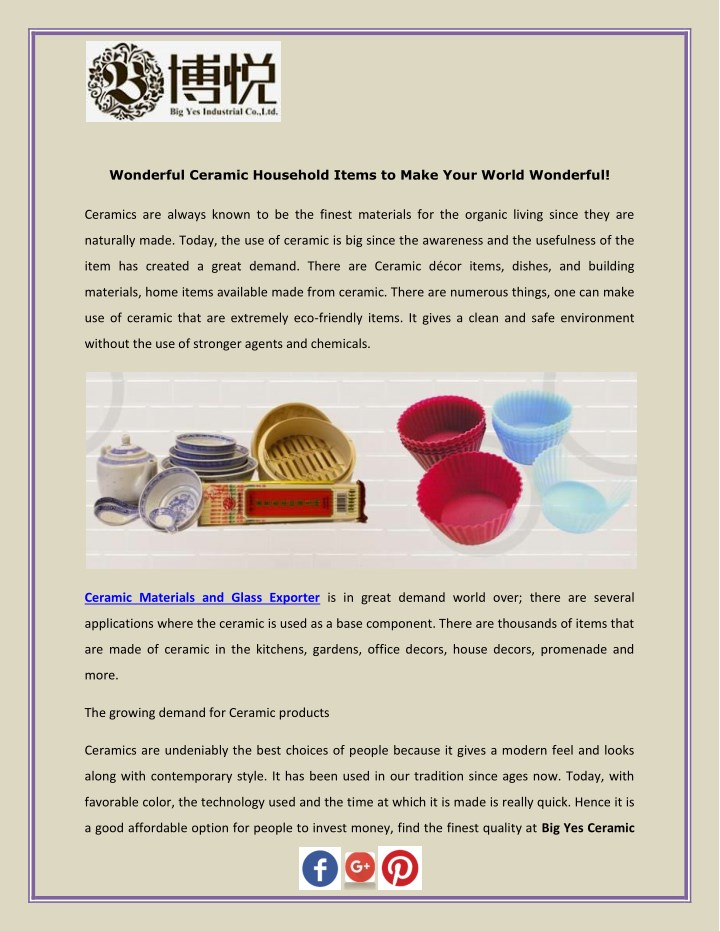 wonderful ceramic household items to make your n.