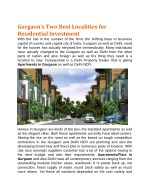 gurgaon s two best localities for residential