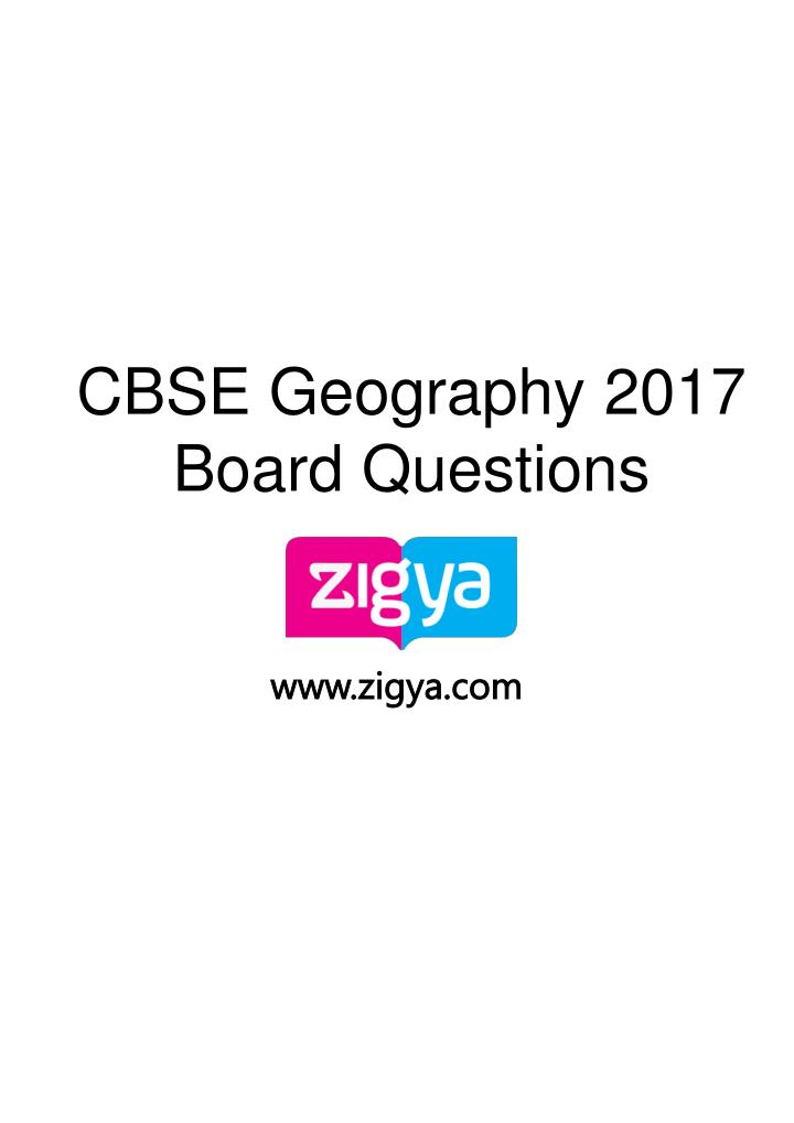 cbse geography 2017 board questions n.