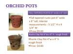 tall tapered rustic pot 6 wide x 6 tall interior