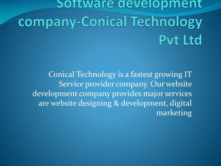 software development company conical technology pvt ltd n.