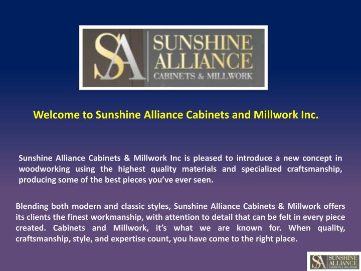 welcome to sunshine alliance cabinets n.