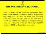rise of sem services mumbai
