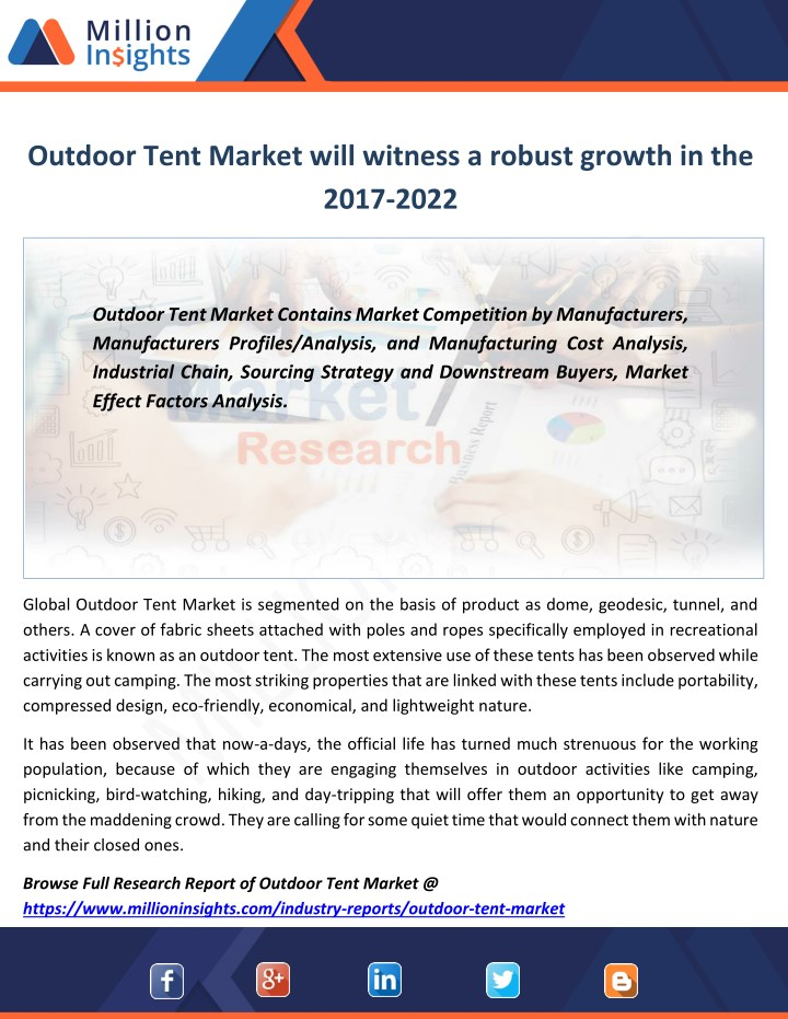 outdoor tent market will witness a robust growth n.