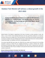 outdoor tent market will witness a robust growth