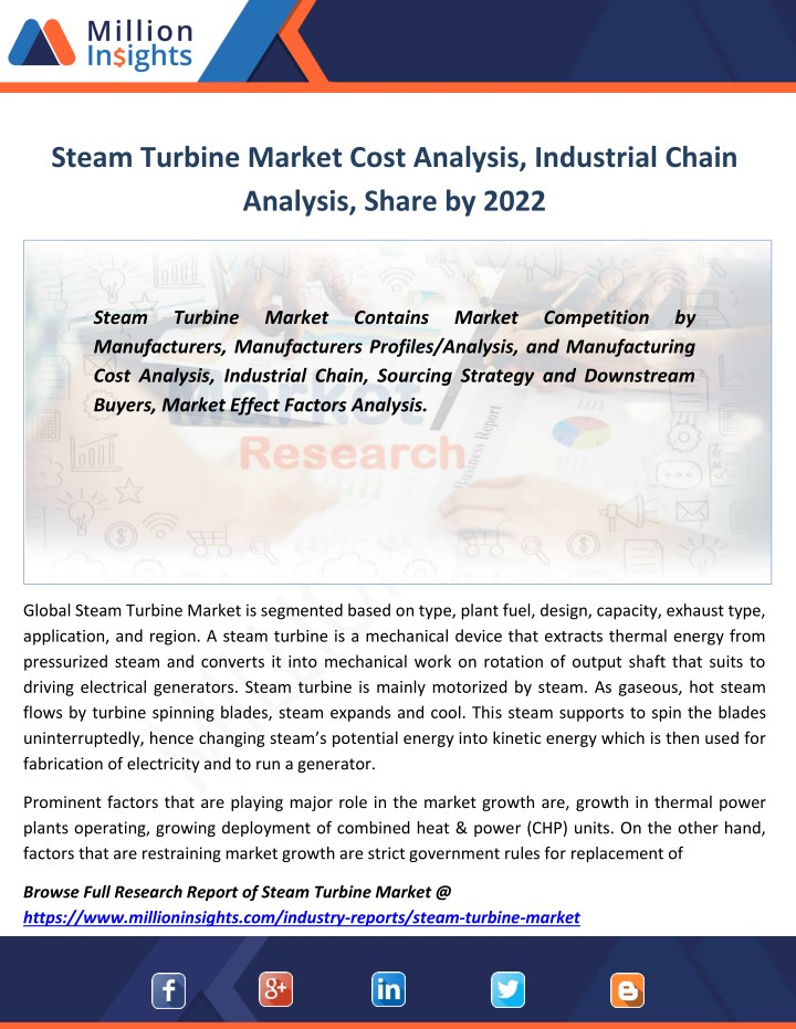 steam turbine market cost analysis industrial n.