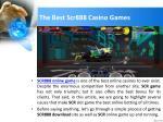 the best scr888 casino games
