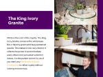 the king ivory granite