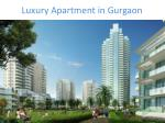 luxury apartment in gurgaon