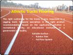 athletic tracks flooring