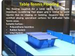 t able tennis flooring