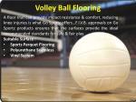 volley ball flooring