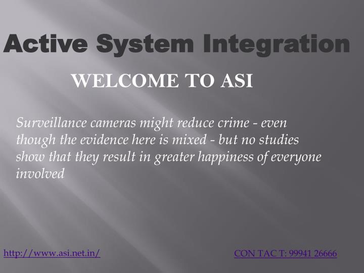 active system integration n.