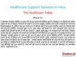 healthcare support services in india 1