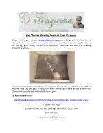 get shower cleaning services from d sapone