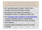sky air ambulance services in bhubaneswar with