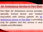air ambulance service in port blair 1