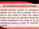 air ambulance service in pune