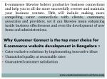 e commerce likewise bolster productive business