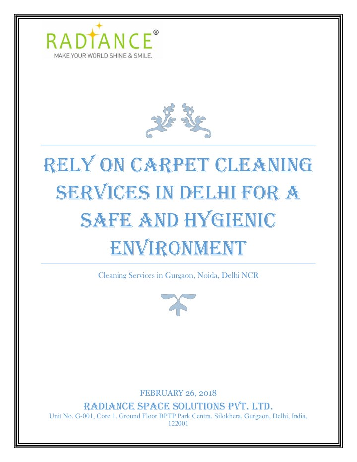 rely on carpet cleaning services in delhi n.