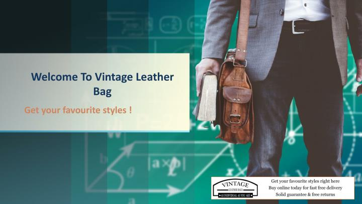 welcome to vintage leather bag n.