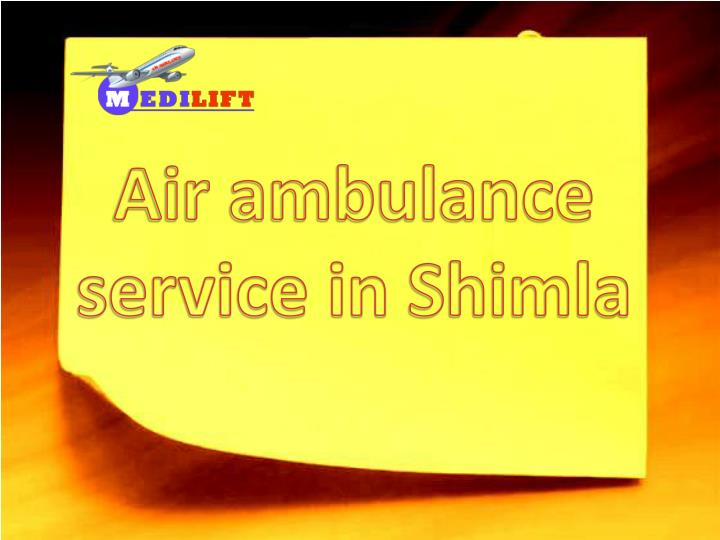 air ambulance service in shimla n.