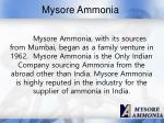 mysore ammonia