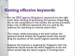 getting effective keywords