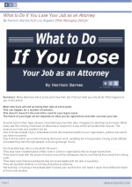 what to do if you lose your job as an attorney