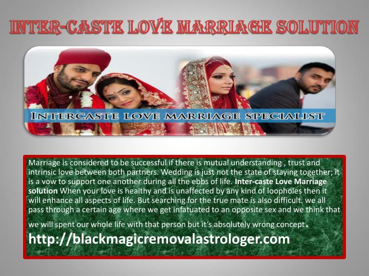 inter caste love marriage solution n.