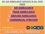 sky air ambulance services in all over india