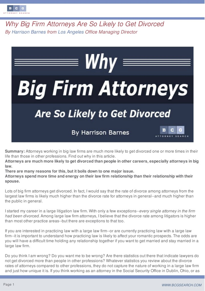 why big firm attorneys are so likely n.