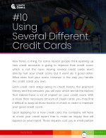 10 using several different credit cards