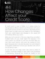 4 how changes affect your credit score