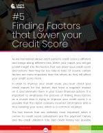 5 finding factors that lower your credit score