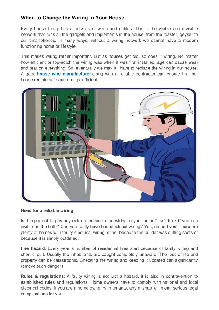 when to change the wiring in your house n.