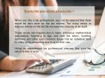 ensure that your returns are accurate