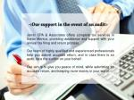 our support in the event of an audit
